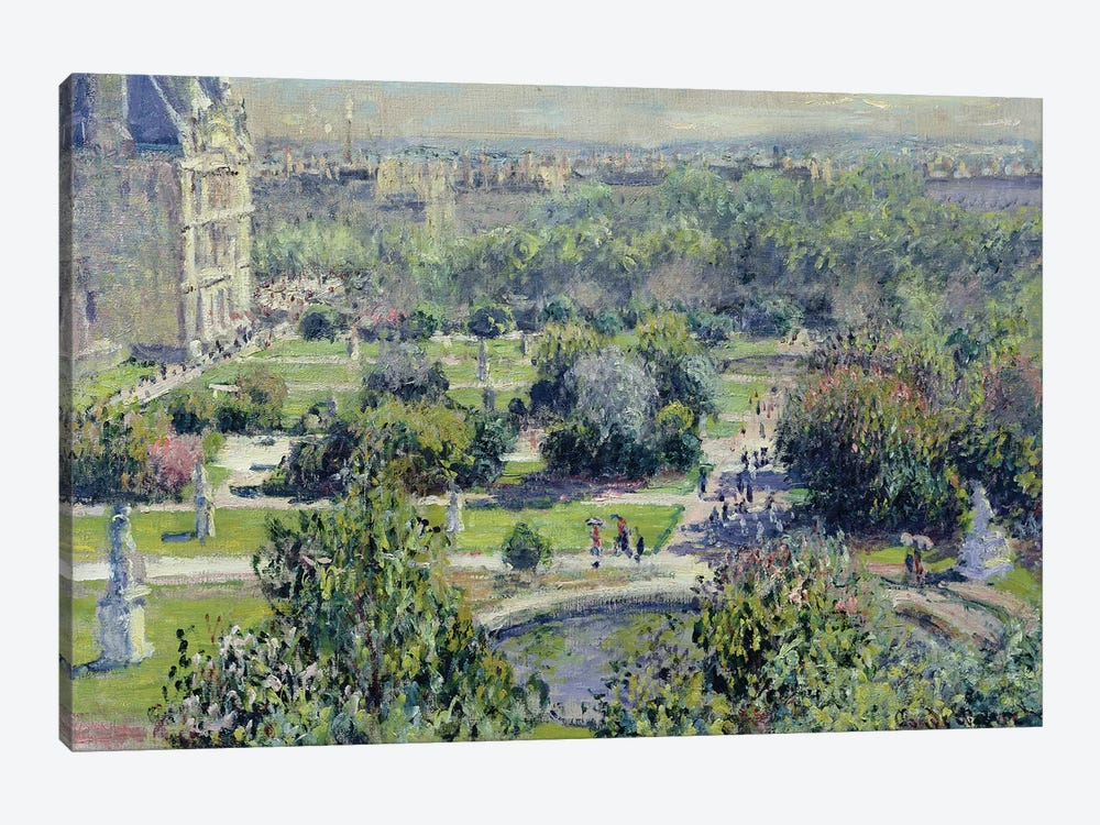 View of the Tuileries Gardens, Paris, 1876  by Claude Monet 1-piece Canvas Art Print