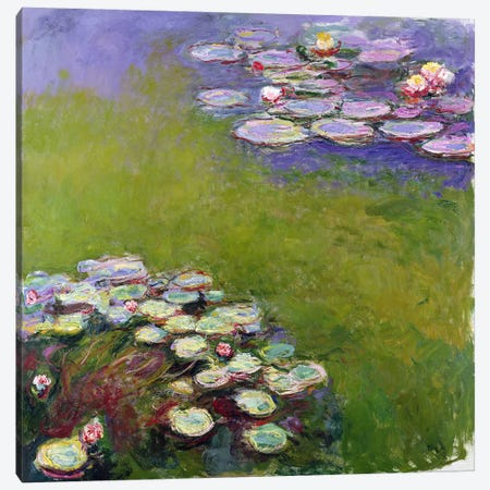 Waterlilies, 1914-17  Canvas Print #BMN1323} by Claude Monet Canvas Print