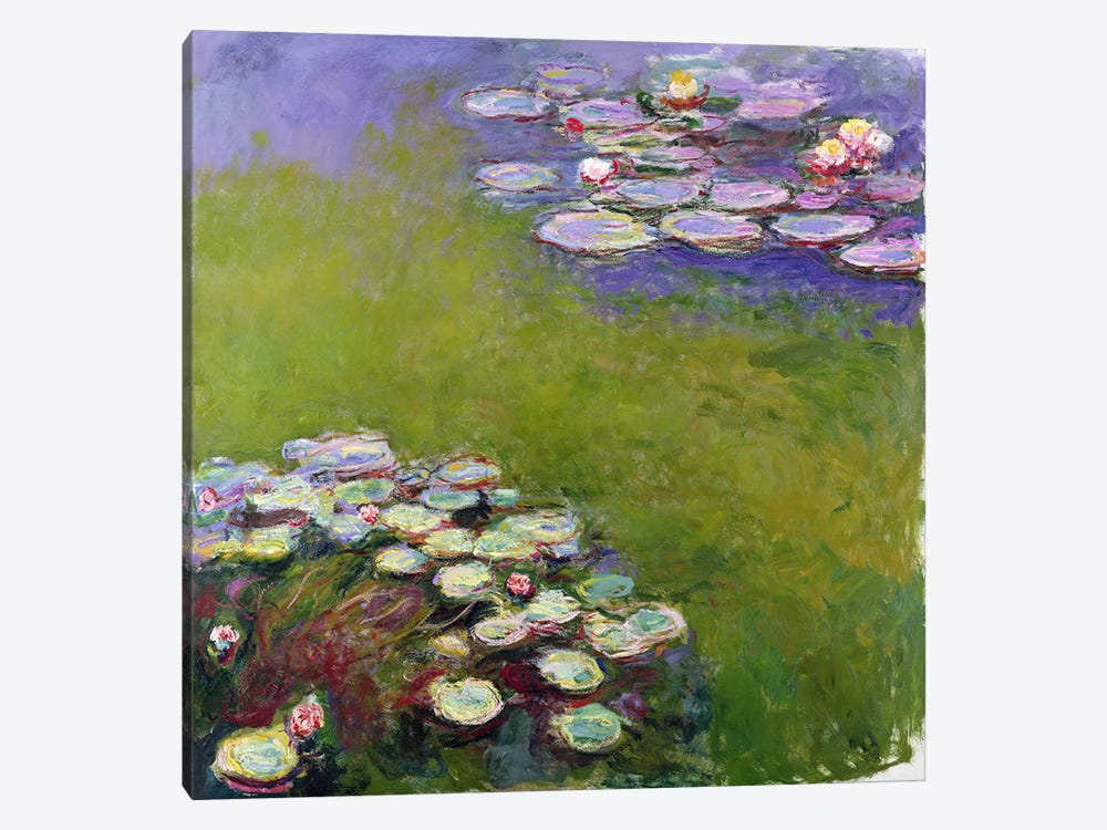 Waterlilies, 1914-17  by Claude Monet 1-piece Canvas Art