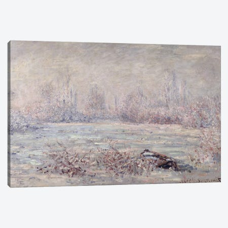 Frost near Vetheuil, 1880  Canvas Print #BMN1324} by Claude Monet Canvas Artwork