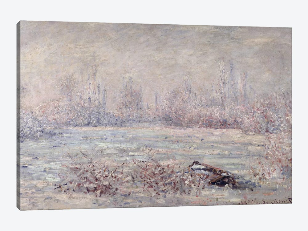 Frost near Vetheuil, 1880  by Claude Monet 1-piece Canvas Art Print