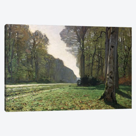 The Road to Bas-Breau, Fontainebleau  Canvas Print #BMN1325} by Claude Monet Canvas Art
