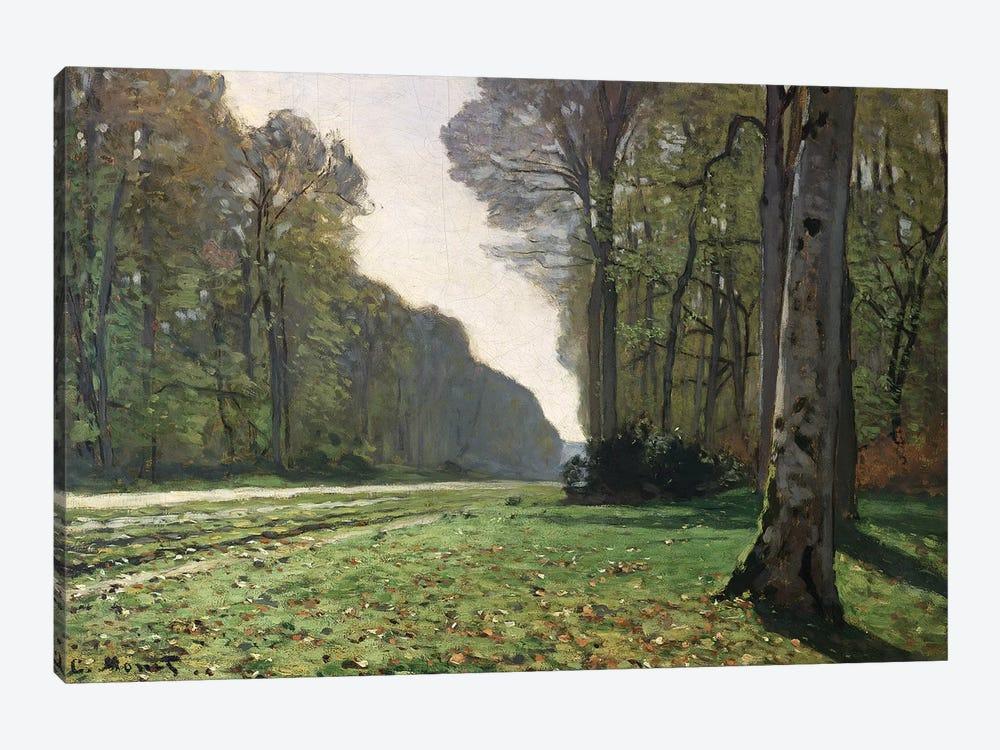 The Road to Bas-Breau, Fontainebleau  by Claude Monet 1-piece Canvas Artwork
