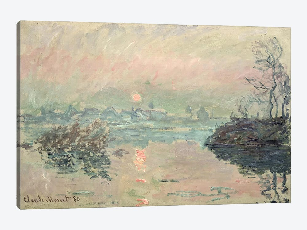 Sunset, 1880 by Claude Monet 1-piece Canvas Print