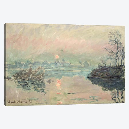Sunset, 1880 Canvas Print #BMN1326} by Claude Monet Canvas Artwork