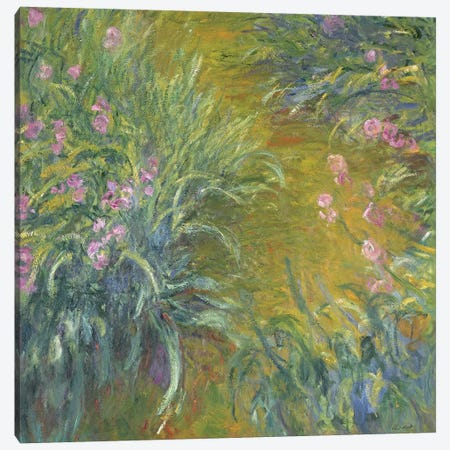 Iris Canvas Print #BMN1327} by Claude Monet Canvas Wall Art
