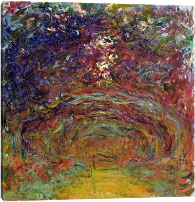 The Rose Path at Giverny, 1920-22  Canvas Print #BMN1329