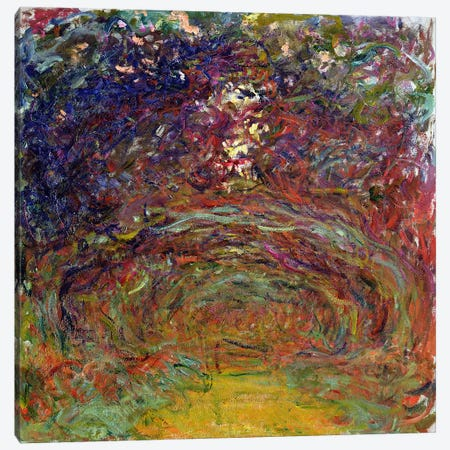 The Rose Path at Giverny, 1920-22  Canvas Print #BMN1329} by Claude Monet Art Print