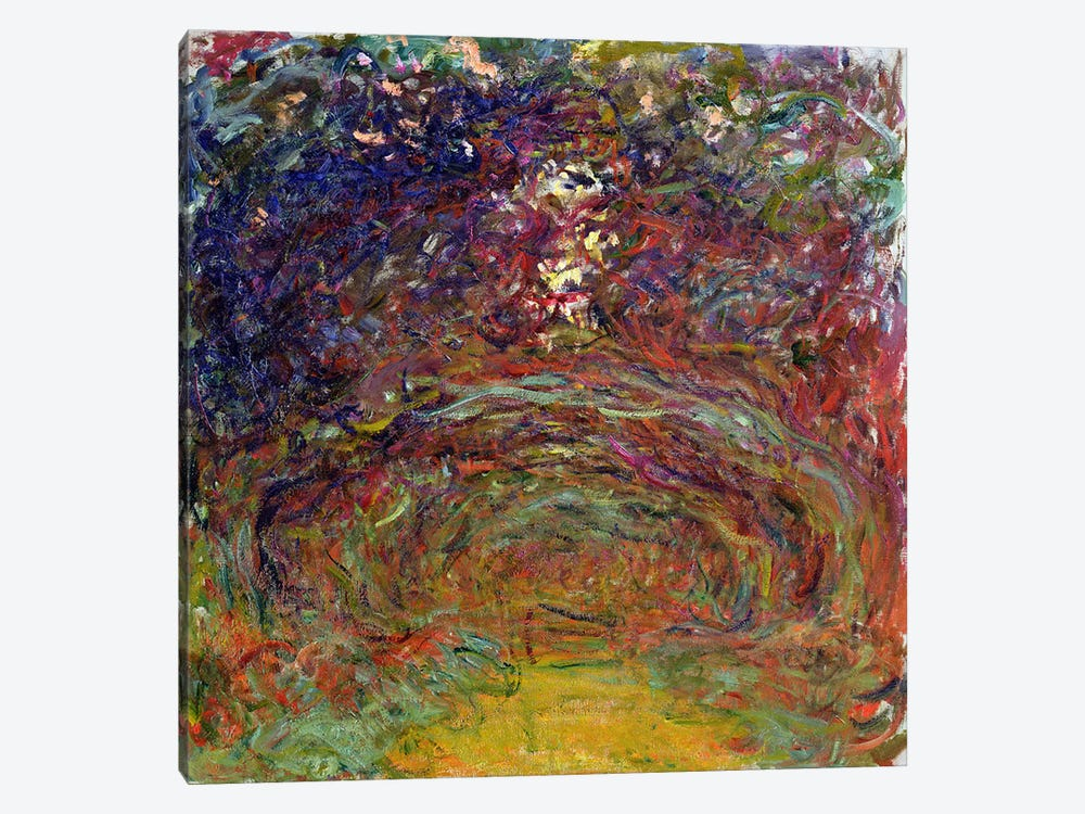 The Rose Path at Giverny, 1920-22  by Claude Monet 1-piece Canvas Art