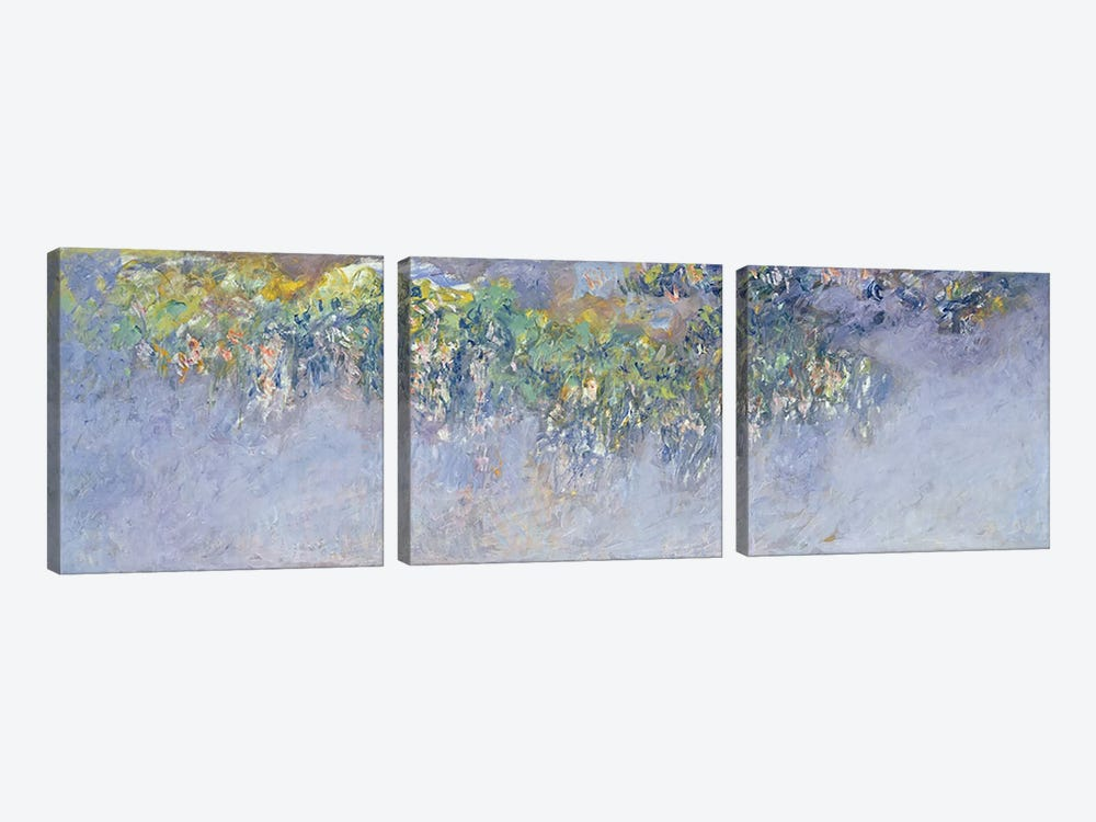 Wisteria, 1919-20  by Claude Monet 3-piece Canvas Artwork
