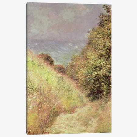 Chemin de la Cavee, Pourville, 1882 Canvas Print #BMN1331} by Claude Monet Canvas Artwork