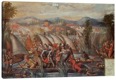 The Capture of Guatemoc  Canvas Art Print