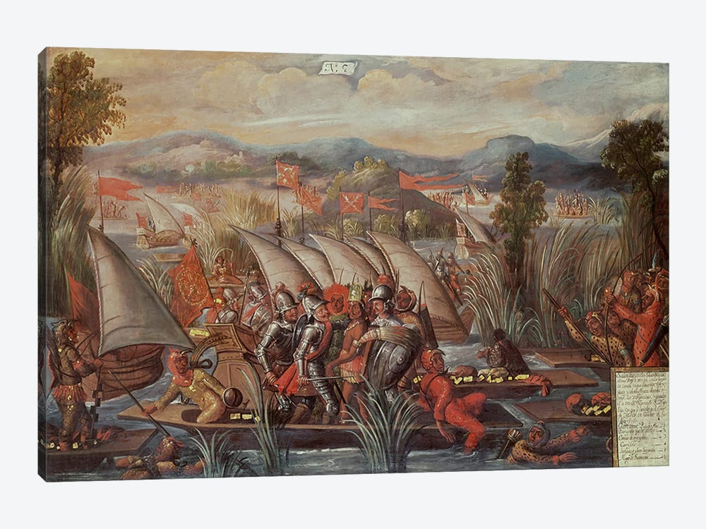 The Capture of Guatemoc by Spanish School 1-piece Canvas Wall Art
