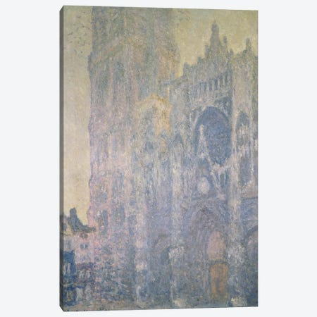 Rouen Cathedral, Harmony in White, Morning Light, 1894  Canvas Print #BMN1336} by Claude Monet Canvas Print