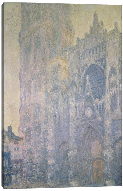 Rouen Cathedral, Harmony in White, Morning Light, 1894  Canvas Print #BMN1336
