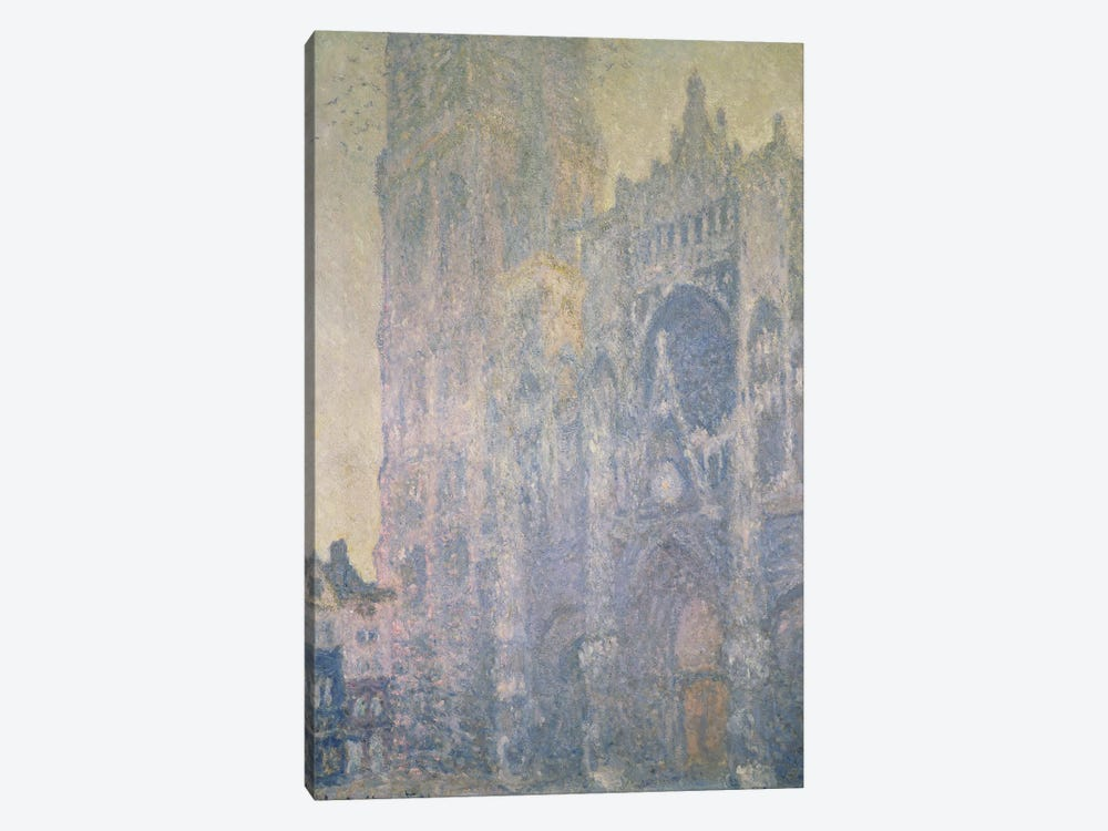 Rouen Cathedral, Harmony in White, Morning Light, 1894  by Claude Monet 1-piece Canvas Wall Art