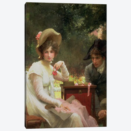 In Love, 1907  Canvas Print #BMN1338} by Marcus Stone Canvas Wall Art