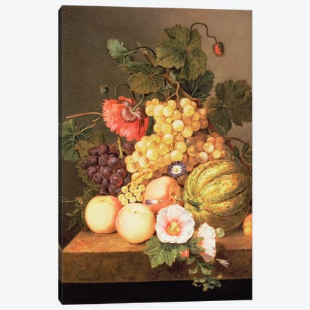 Still life with fruit Canvas Print #BMN1341} by Johannes Cornelis Bruyn Art Print