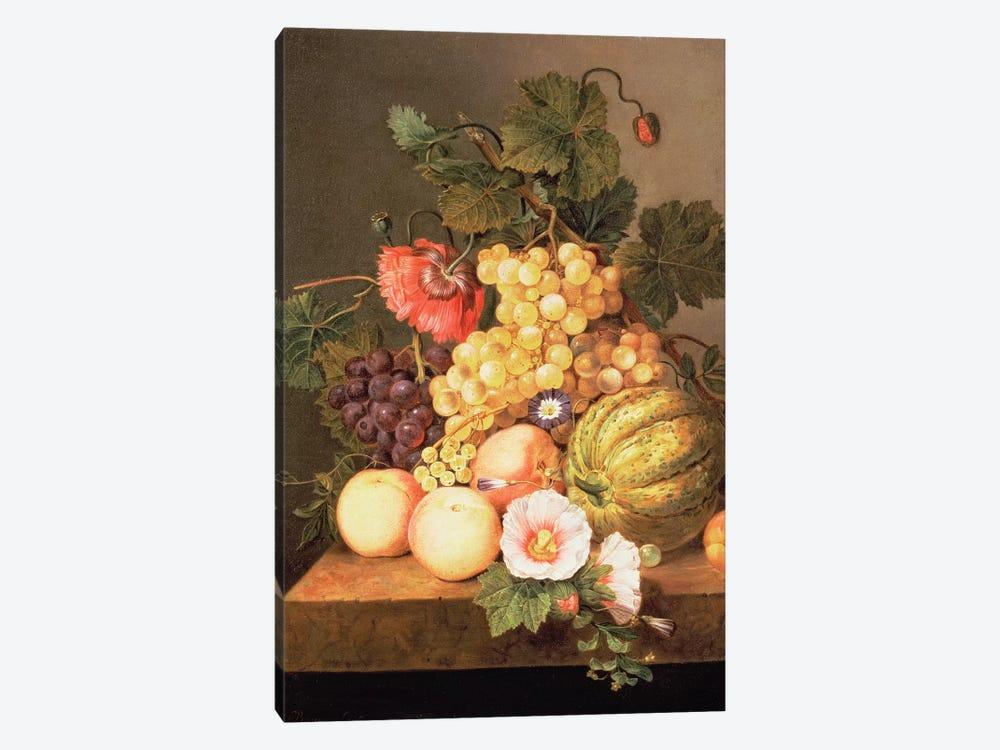 Still life with fruit by Johannes Cornelis Bruyn 1-piece Canvas Artwork