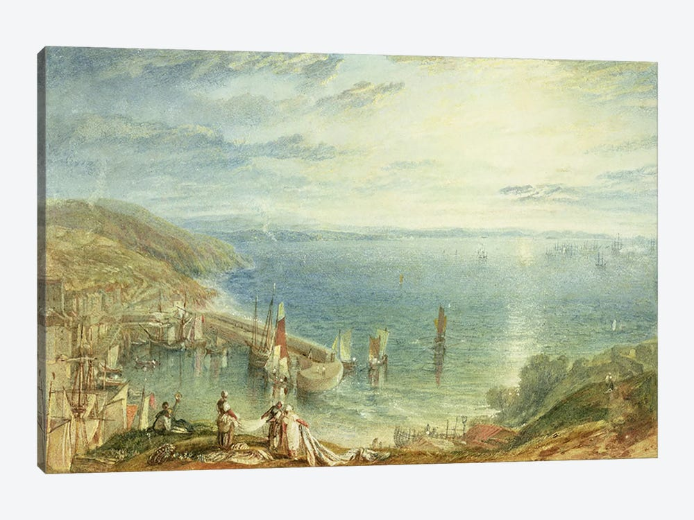 No.1790 Torbay from Brixham, c.1816-17  by J.M.W. Turner 1-piece Canvas Art Print