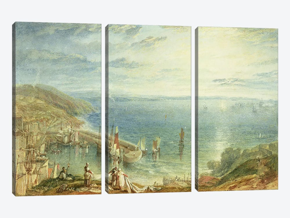 No.1790 Torbay from Brixham, c.1816-17 by J.M.W Turner 3-piece Art Print