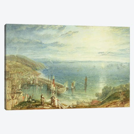 No.1790 Torbay from Brixham, c.1816-17  Canvas Print #BMN1342} by J.M.W. Turner Art Print