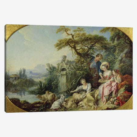 The Shepherd's Gift or, The Nest  Canvas Print #BMN1343} by Francois Boucher Canvas Art Print