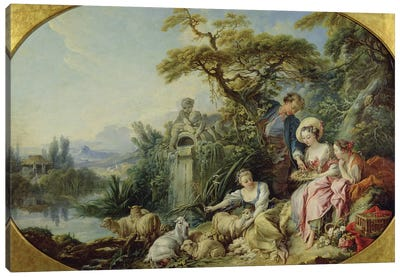 The Shepherd's Gift or, The Nest  Canvas Art Print