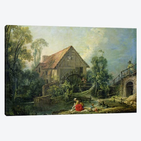 The Mill, 1751  Canvas Print #BMN1344} by Francois Boucher Canvas Artwork