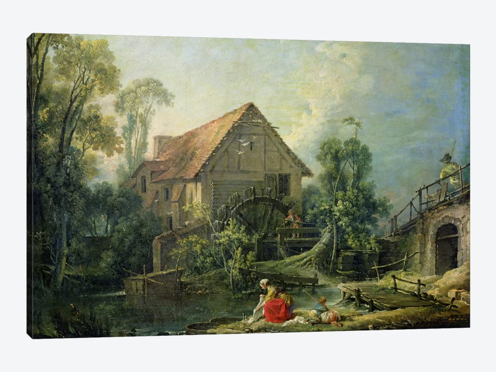 The Mill, 1751 by Francois Boucher 1-piece Canvas Art Print