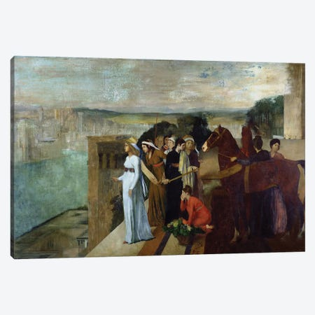 Semiramis Building Babylon, 1861  Canvas Print #BMN1345} by Edgar Degas Canvas Artwork