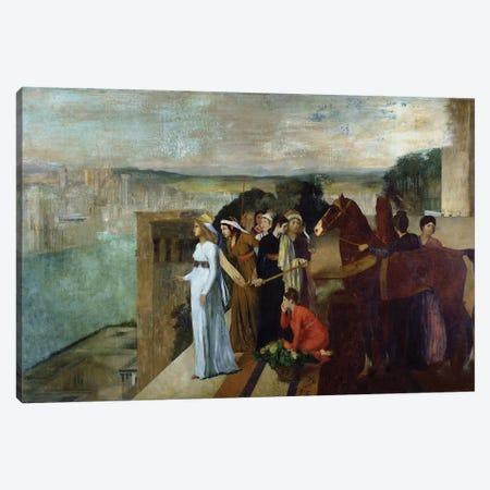 Semiramis Building Babylon, 1861  Canvas Print #BMN1345} by Edgar Degas Canvas Artwork