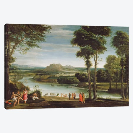 Landscape with St. John Baptising, c.1610-20  Canvas Print #BMN1349} by Domenichino Canvas Art Print