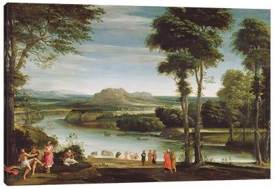 Landscape with St. John Baptising, c.1610-20  Canvas Art Print