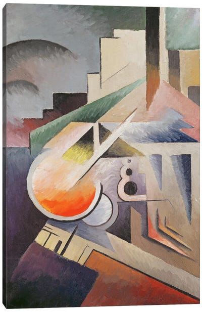Composition (oil on canvas) Canvas Art Print