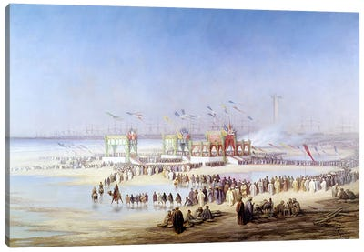 The Inauguration of the Suez Canal by the Empress Eugenie  Canvas Art Print