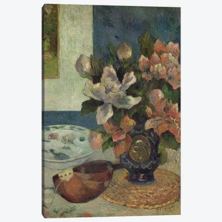 Still Life with a Mandolin, 1885  Canvas Print #BMN1356} by Paul Gauguin Canvas Print