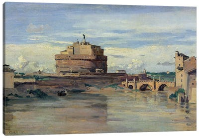 Castel Sant' Angelo and the River Tiber, Rome  Canvas Art Print