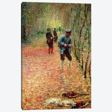The Shoot, 1876  Canvas Print #BMN1358} by Claude Monet Canvas Wall Art