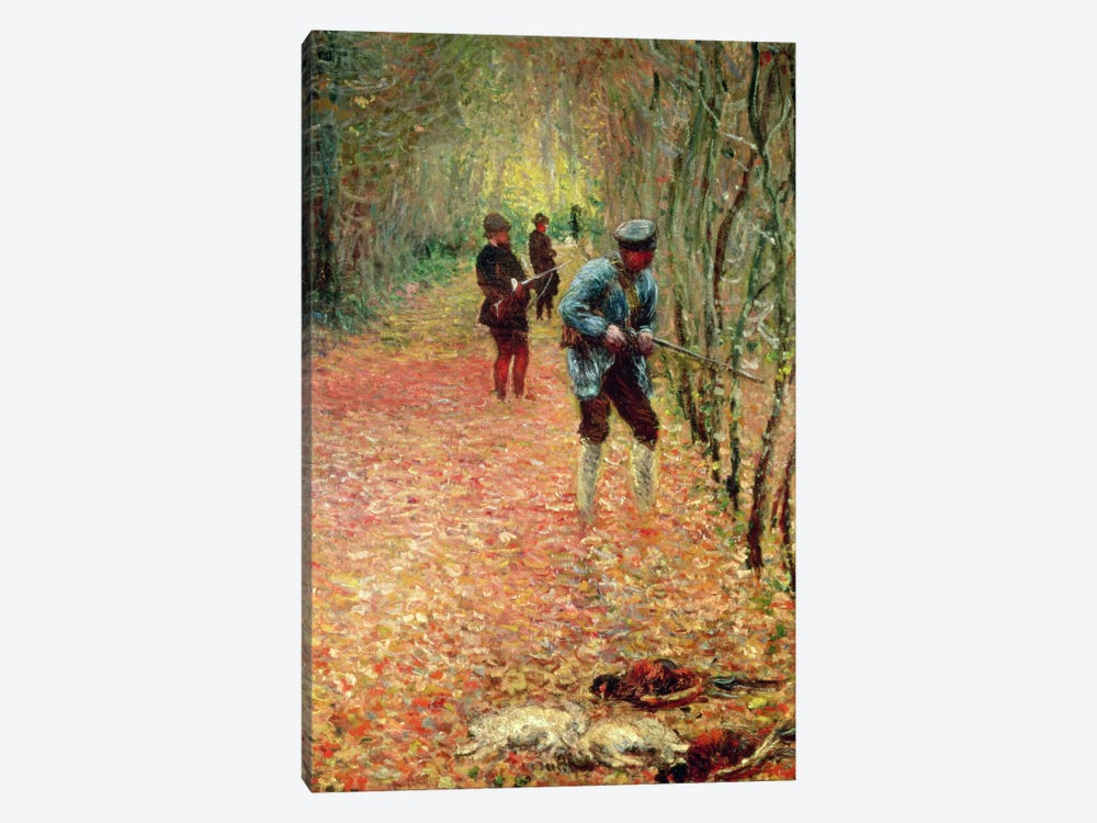 The Shoot, 1876 by Claude Monet 1-piece Canvas Wall Art