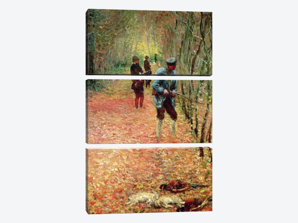 The Shoot, 1876  by Claude Monet 3-piece Canvas Artwork