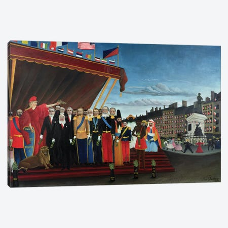 The Representatitves Of Foreign Powers Coming To Salute The Republic As A Sign Of Peace, 1907 Canvas Print #BMN1359} by Henri Rousseau Canvas Art
