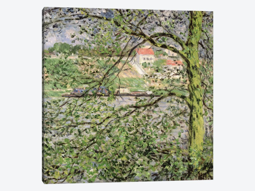 Through the Trees, 1878 by Claude Monet 1-piece Canvas Art