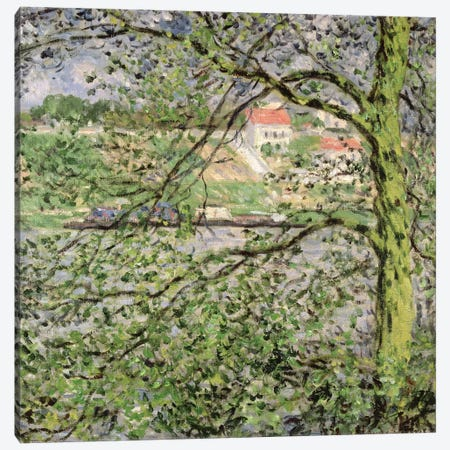 Through the Trees, 1878 Canvas Print #BMN1361} by Claude Monet Art Print