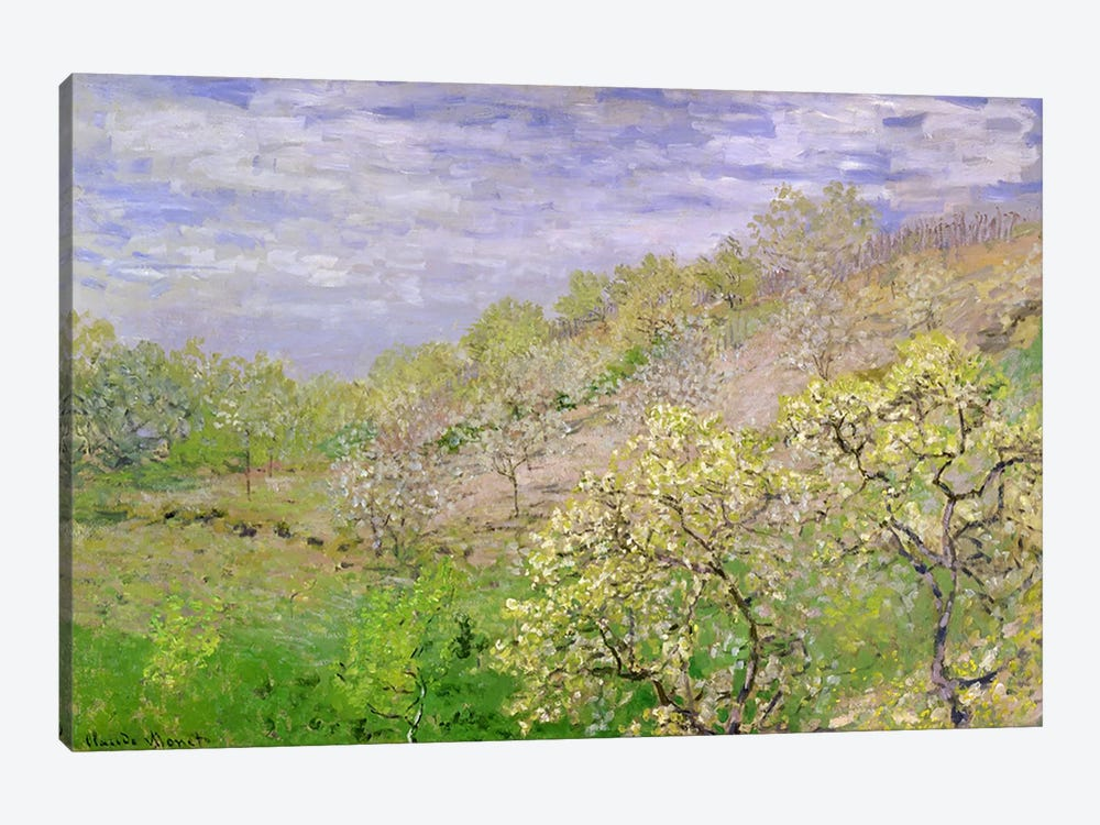 Trees in Blossom by Claude Monet 1-piece Art Print