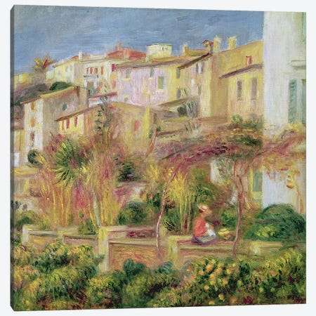 Terrace in Cagnes, 1905  Canvas Print #BMN1365} by Pierre-Auguste Renoir Canvas Wall Art