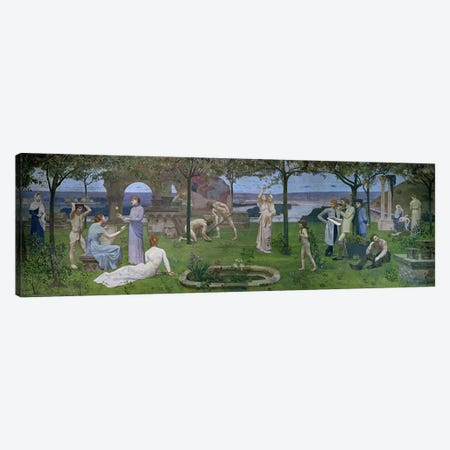 Between Art and Nature, 1890  Canvas Print #BMN1366} by Pierre Puvis de Chavannes Canvas Wall Art