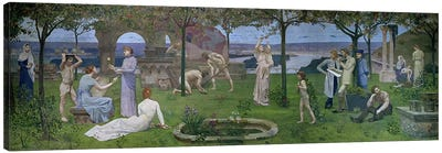 Between Art and Nature, 1890  Canvas Art Print