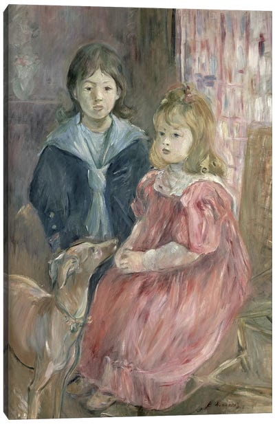 Double Portrait Of Charley And Jeannie Thomas, Children Of The Artist's Cousin, Gabriel Thomas, 1894 Canvas Art Print