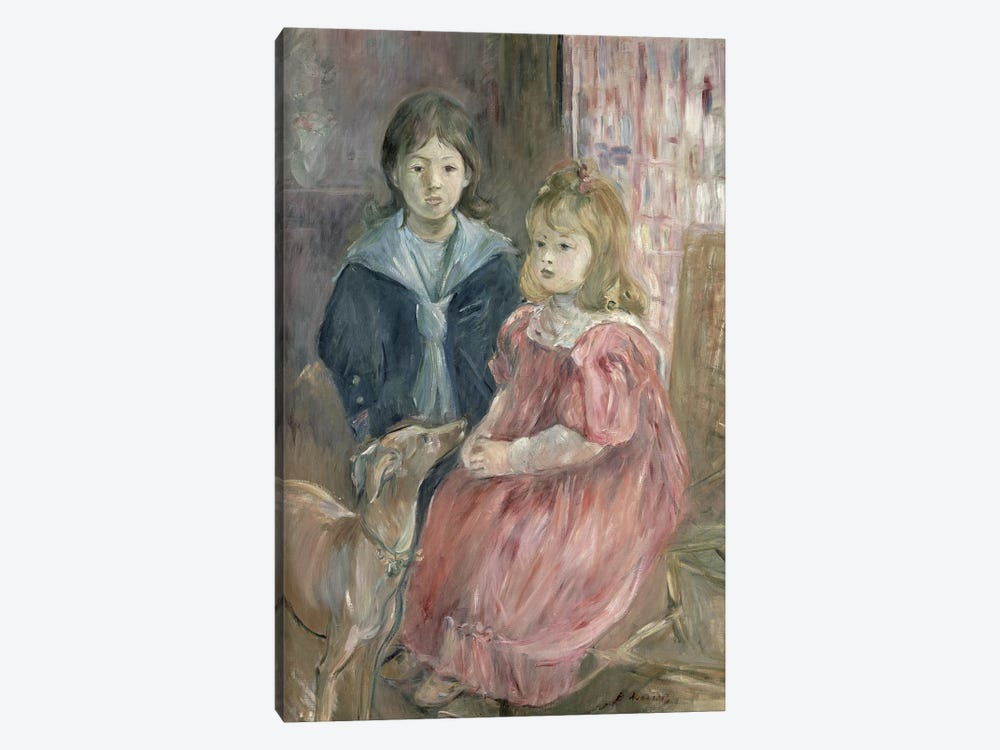 Double Portrait Of Charley And Jeannie Thomas, Children Of The Artist's Cousin, Gabriel Thomas, 1894 by Berthe Morisot 1-piece Canvas Art Print